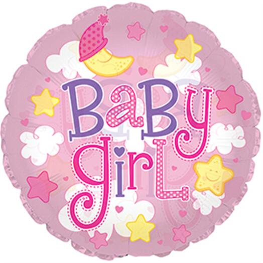 Шар круг Baby girl