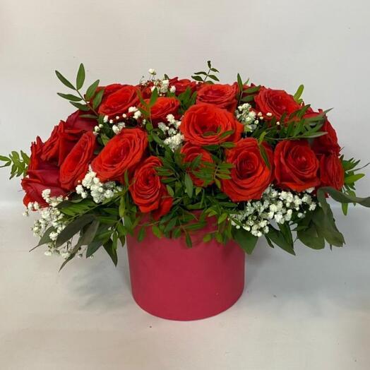 """Цветы в коробке """"AMORE """""""