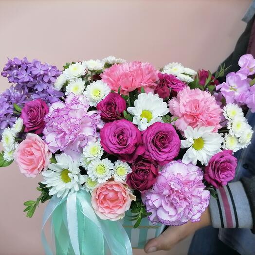 """Цветы в коробке """"Мечта"""""""