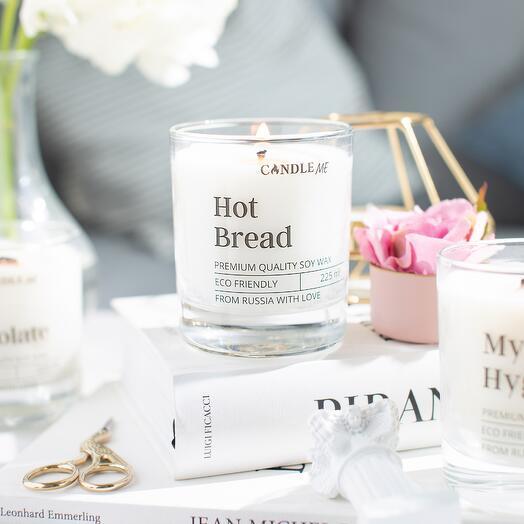 """Ароматическая свеча HOT BREAD / Свеча Горячий хлеб - свеча с хлопковым фитилем, CANDLE ME """""""