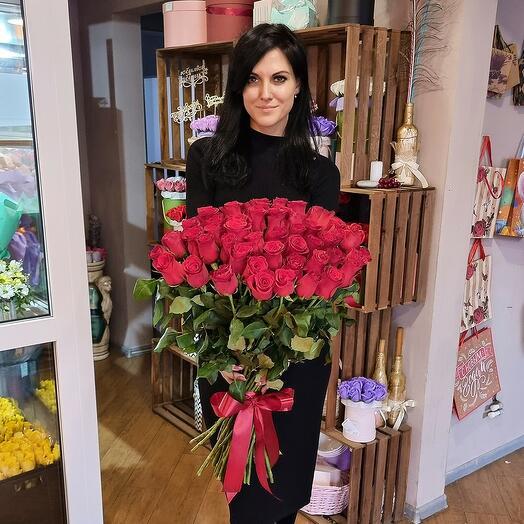 51 роза rhodos 60 см