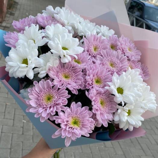 Букет кустовой хризантемы