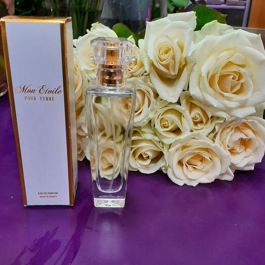 """11 белых роз и Парфюм 22 """"Утонченная романтика"""" 50 ml"""