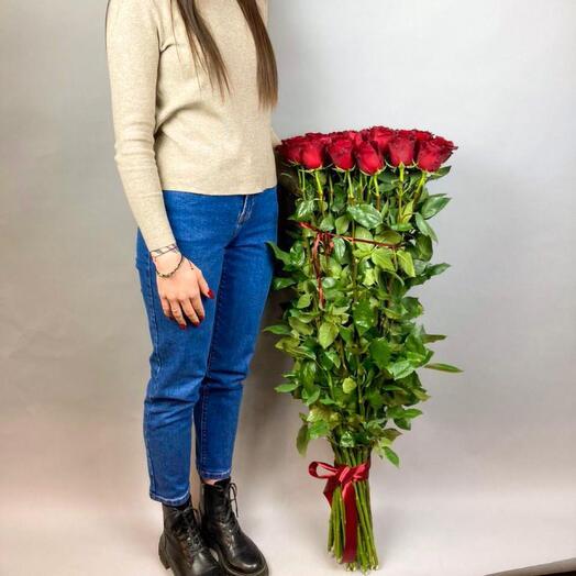 Букет из 37 роз, 100 см