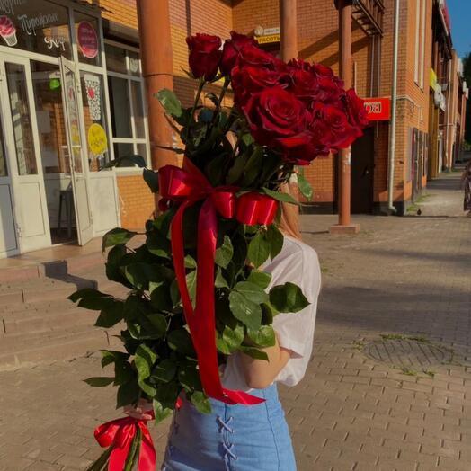 Букет из 13 роз, 110 см