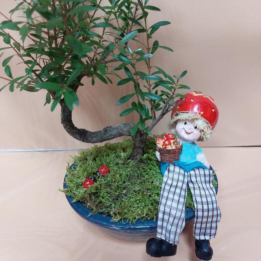 Дерево бансай с декором