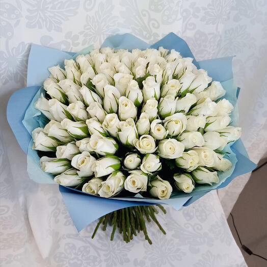Букет из 101 розы белой