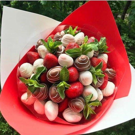 Клубника и мята: букеты цветов на заказ Flowwow
