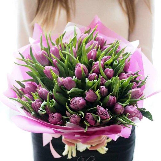 Тюльпан пионовидный: букеты цветов на заказ Flowwow
