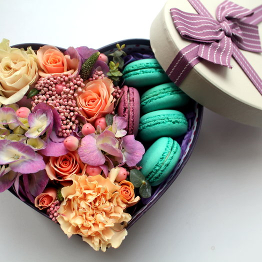 "Набор ""Сладкое сердце"": букеты цветов на заказ Flowwow"