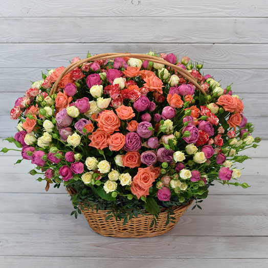 Корзина Английский Сад: букеты цветов на заказ Flowwow