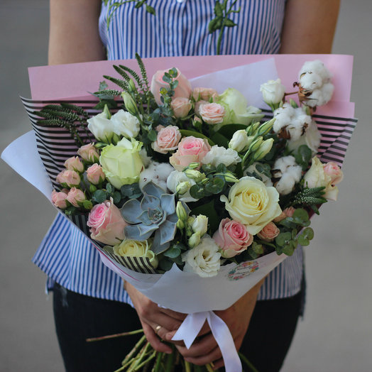 Авторский нежный букет: букеты цветов на заказ Flowwow