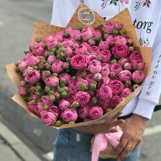 Розы. Пионовидная кустовая роза. N228: букеты цветов на заказ Flowwow