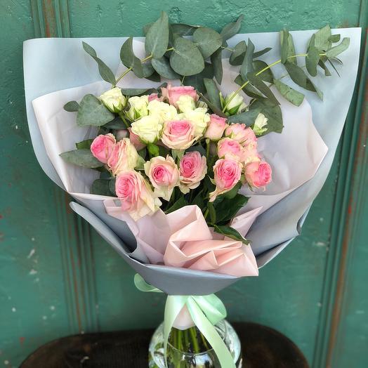 Пыльно-розовая нежность: букеты цветов на заказ Flowwow