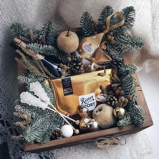 Подарок Деда Мороза: букеты цветов на заказ Flowwow