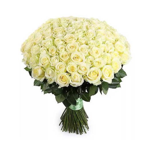 101 роза белая: букеты цветов на заказ Flowwow