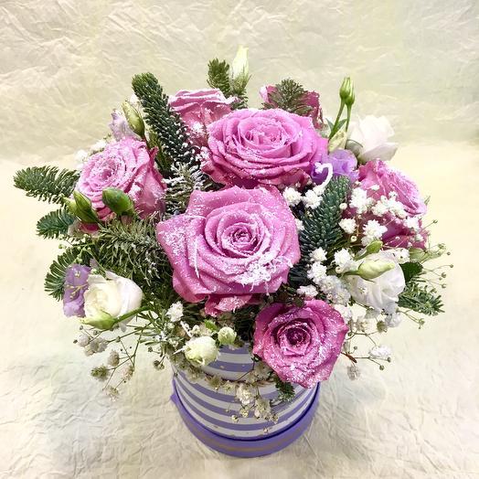 Композиция хрустальная роза: букеты цветов на заказ Flowwow