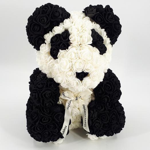 Мишка из роз 40 см панда