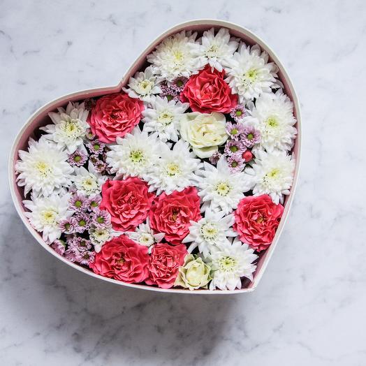 Сердце с цветами: букеты цветов на заказ Flowwow