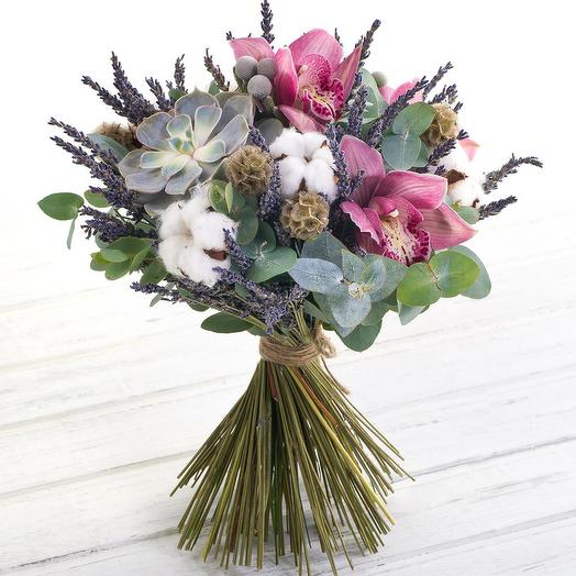 Букет с эхеверией: букеты цветов на заказ Flowwow