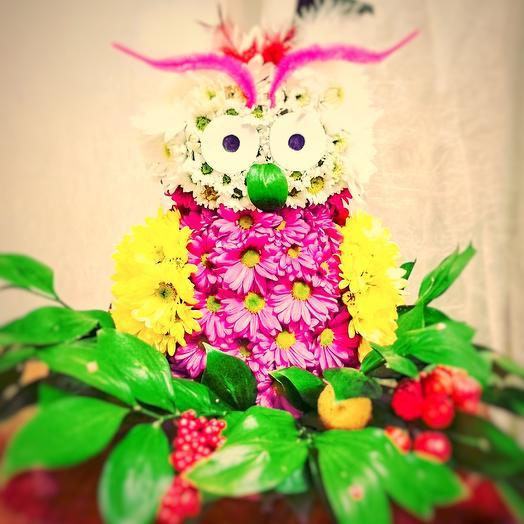 "Композиция ""Сова"": букеты цветов на заказ Flowwow"