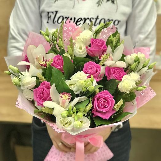 Розы. Авторский букет. N391: букеты цветов на заказ Flowwow