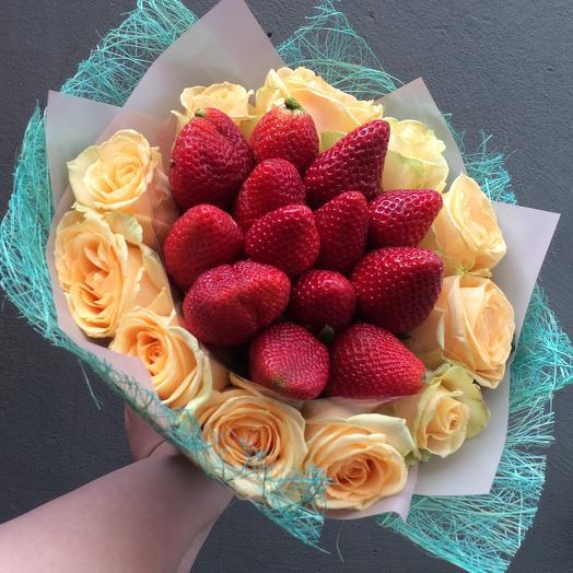 Клубничный🍓: букеты цветов на заказ Flowwow
