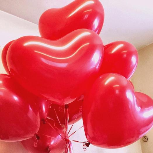 Шары «Сердце» 11 штук: букеты цветов на заказ Flowwow