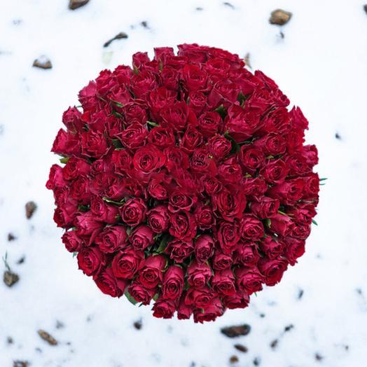 """Букет """"101 Красная Роза"""": букеты цветов на заказ Flowwow"""