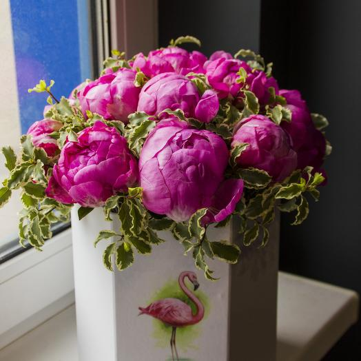 "Композиция ""Фламинго"": букеты цветов на заказ Flowwow"