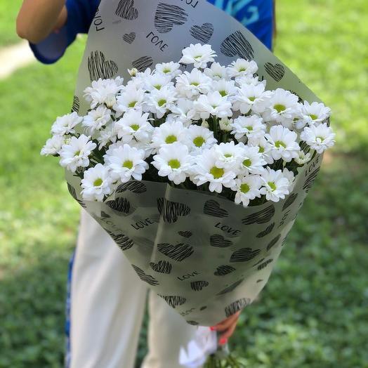 11 хризантем: букеты цветов на заказ Flowwow