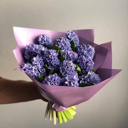 Букет из 15 синих гиацинтов: букеты цветов на заказ Flowwow