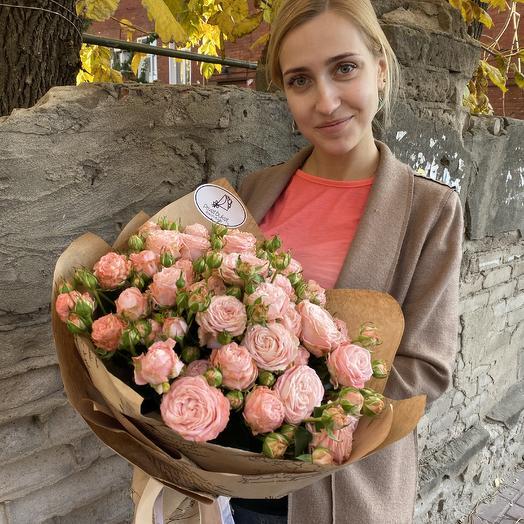 Бомбастик в крафте: букеты цветов на заказ Flowwow