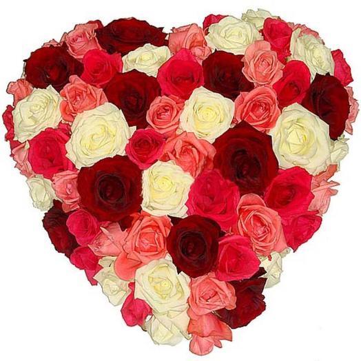 """Композиция из роз """"Фейерверк чувств"""": букеты цветов на заказ Flowwow"""