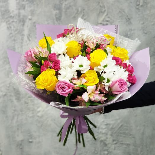 Красивый букет  Мамочке: букеты цветов на заказ Flowwow