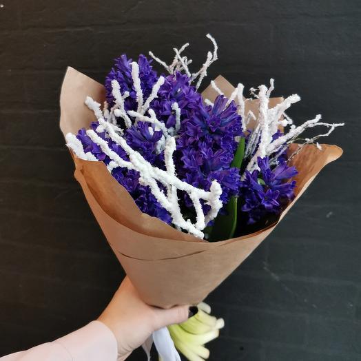 Снежная пора 💙: букеты цветов на заказ Flowwow