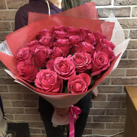 Букет из Эквадорских 60см роз: букеты цветов на заказ Flowwow