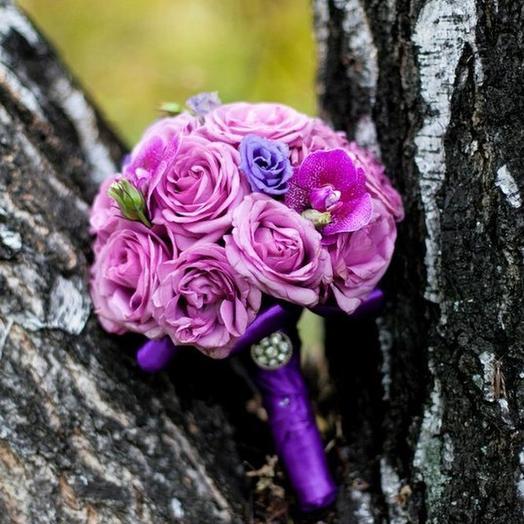 """Свадебный букет """"Сиреневый рай"""": букеты цветов на заказ Flowwow"""