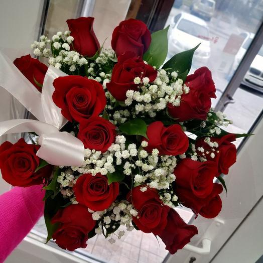 Premium букет 17 красных роз: букеты цветов на заказ Flowwow