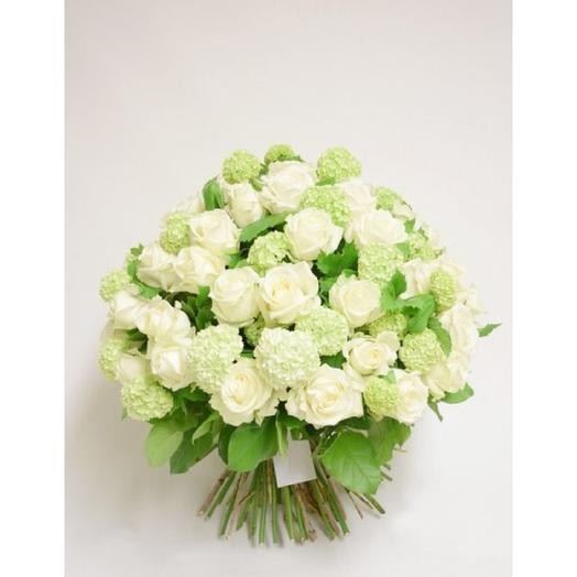 """БУКЕТ  """"БЕЛОСНЕЖНОЕ ОБЛАКО"""": букеты цветов на заказ Flowwow"""