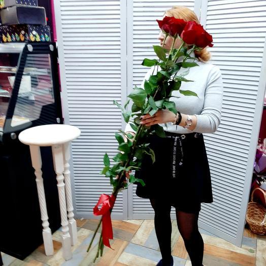Розы 120 см: букеты цветов на заказ Flowwow
