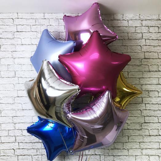 Сет из воздушных шаров «Звезда»: букеты цветов на заказ Flowwow