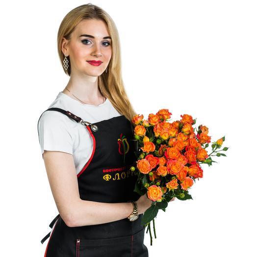 15 кустовых оранжевых роз: букеты цветов на заказ Flowwow