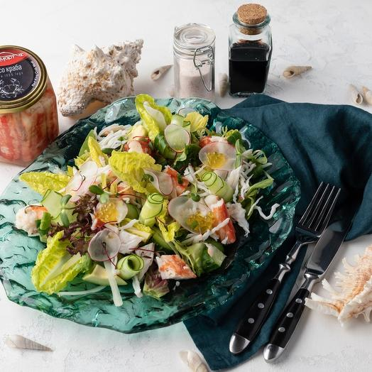 Мясо краба натуральное Премиум, Икрамарт, 400 грамм