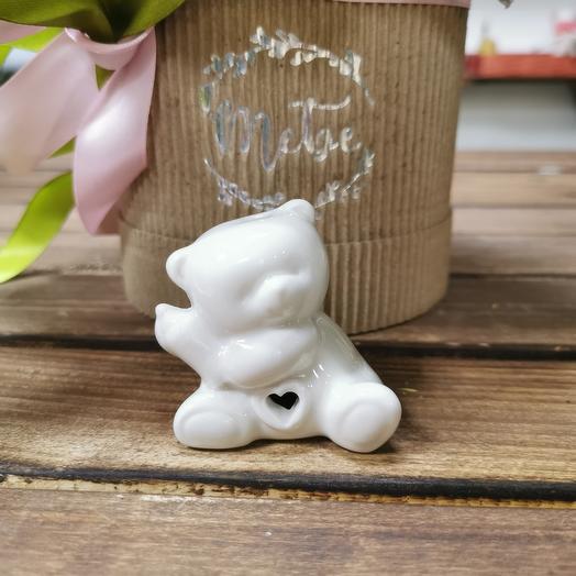 Керамический мишка с сердцем