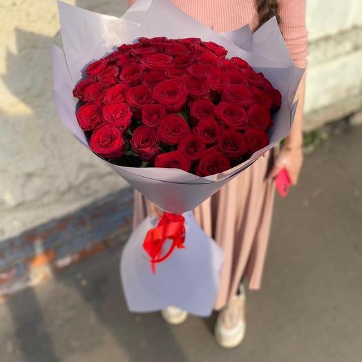 Букет из 35 красных роз Премиум