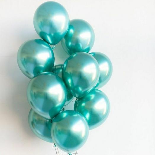 """Связка воздушных шаров""""Зелёный хром"""""""