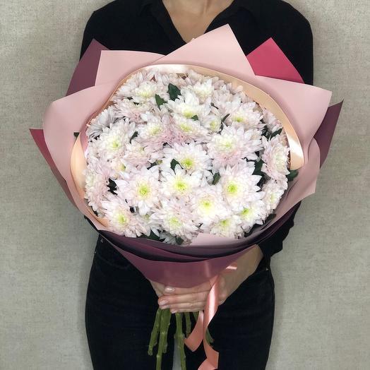 Букет «Классика» ( 9 кустовых хризантем)