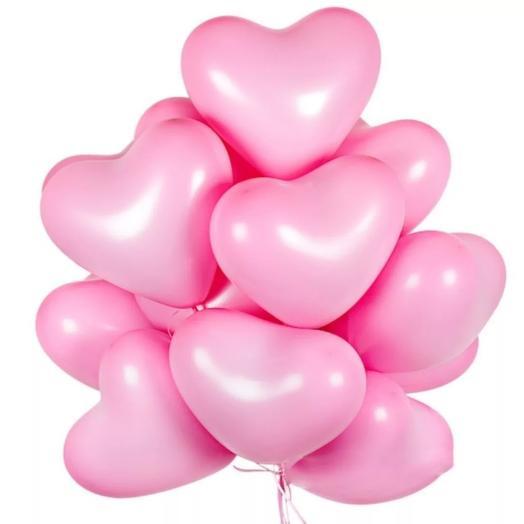 15 гелиевых шаров сердце