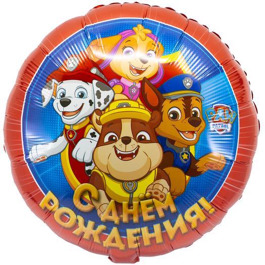 "Foil balloon round ""happy birthday"" WinAce patrol"